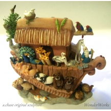 "3"" Noah's Ark with 42 Animals"