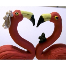 Flamingos Cake Topper
