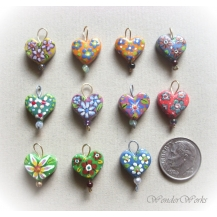 Painted Heart Charms