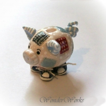 Sneaky Patch Pig Mini Bank
