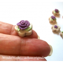 Hand Sculpted Rose Beads